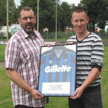 Gillette shirtsponsor vierde elftal