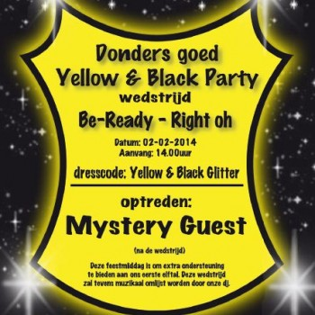 Donders goed Yellow & Black party