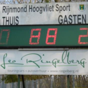 RijnmondHoogvlietSport 4- Rozenburg 2: 0-2(30mrt.2019)