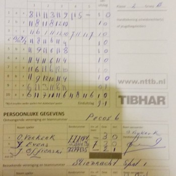 Pecos 6 - Sliedrecht Sport 1, 6-2-2015